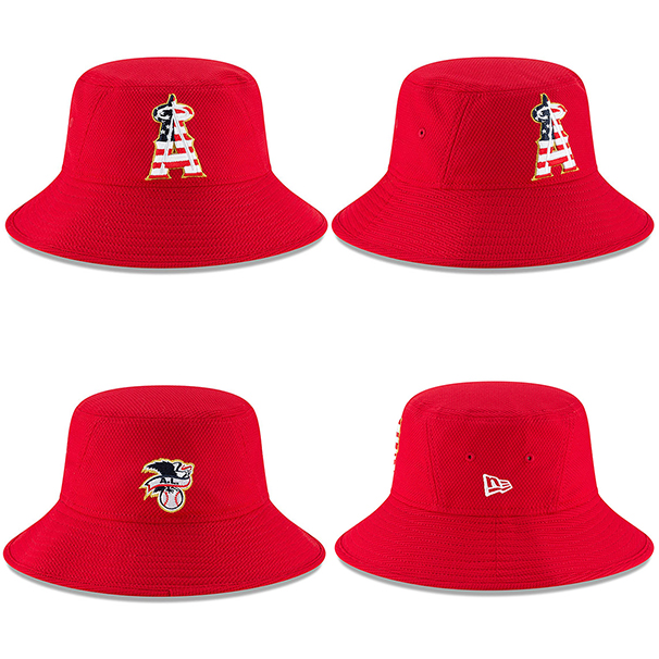 size 40 a3bc5 d1329  独立記念日モデル NEW ERA ロサンゼルス エンゼルス オブ アナハイム 2018 JULY 4TH STARS N STRIPES  BUCKET HAT RED  ニューエラ LOS ANGELES ANGELS OF ANAHEIM ...