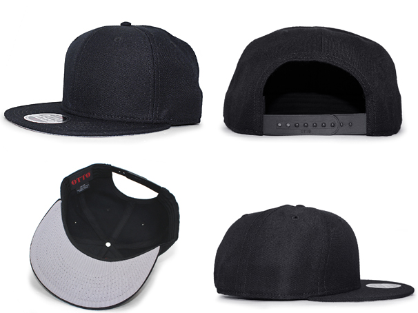 OTTO Otto snapback SNAPBACK BLANK blank plain fabric BLACK black black  hat  17 3 5OTTO for3000  23b0bcccec5