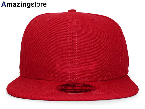NEW ERA new gills flag plain fabric 9FIFTY snapback ORIGINAL FIT PLAIN  plane red red  hat new era cap new gills cap new era cap newera cap  17 4 2SNA17 4 3 ... 66e78e43589