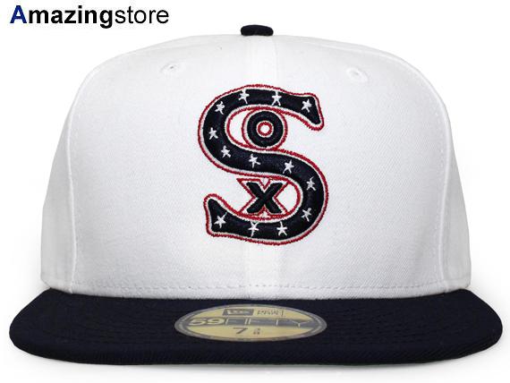 NEW ERA CHICAGO WHITE SOX 【MLB COOPERSTOWN 1917 GAME/WHT-NAVY】 ニューエラ シカゴ ホワイトソックス 59FIFTY フィッテッド キャップ FITTED CAP クーパーズタウン WHITE ホワイト 白 ネイビー 紺 [帽子 メンズ レディース 17_4_3 17_4_4]