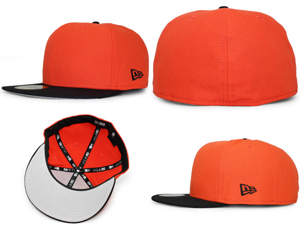 1bf828bf NEW ERA new era flag blank 59FIFTY fitted CAP FITTED orange black ORANGE  BLACK [large Hat head gear new era cap new era caps new era Cap newera Cap  ...