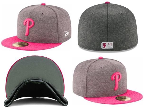 03b28fdf82f68 NEW ERA PHILADELPHIA PHILLIES new gills Phillies on field 59FIFTY FITTED  CAP フィッテッドキャップマザーズデー Mother s Day model Heather charcoal gray pink ...