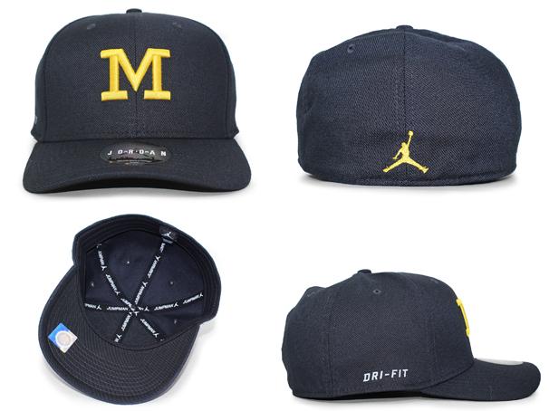 JORDAN BRAND MICHIGAN WOLVERINES Jordan brand Michigan Wolverine FITTED CAP  フィッテッドキャップ BLACK black black  hat headgear cap cap NIKE AIR JORDAN ... 8cf5843cfa0