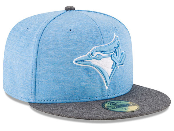 Teal Blue Toronto Blue Jays Sky Blue Shadow Logo New Era 59Fifty Fitted Hat