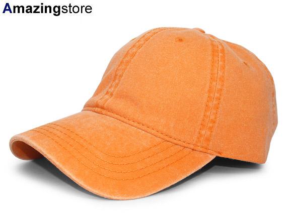 890ca83d Otto OTTO low profile cap STRAPBACK strap back DAD HAT BLANK blank plain  fabric ORANGE orange ...