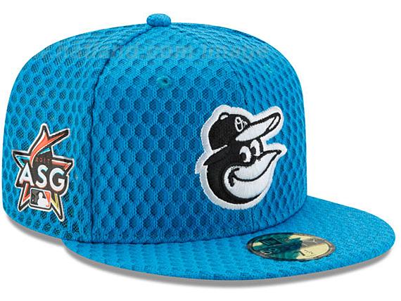 NEW ERA BALTIMORE ORIOLES 【2017 MLB ALL STAR HOME RUN DERBY/BLUE】 ニューエラ ボルチモア オリオールズ オンフィールド 59FIFTY フィッテッド キャップ FITTED CAP オールスター ホームランダービー ブルー 青 [帽子 メンズ レディース 2017HRD 17_6_4ALL 17_6_5]