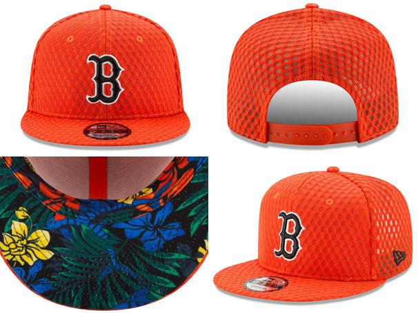 NEW ERA BOSTON RED SOX new gills Boston Red Sox 9FIFTY snapback home-run  derby MLB all-stars ORANGE orange  hat men gap Dis 2017HRD 17 7 3  00844ac01567