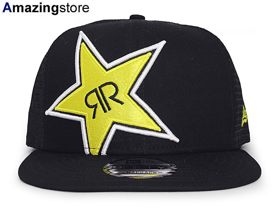 e1ea4269f62 NEW ERA ROCKSTAR ENERGY DRINK new gills rock star energy drink 9FIFTY mesh  cap BLACK black black  men gap Dis 17 7 5ENE 17 7 5SNA