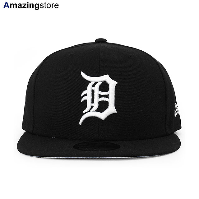 NEW ERA LEAGUE ESSENTIAL 39THIRTY FITTED CAP BLACK//WHITE DETROIT TIGERS