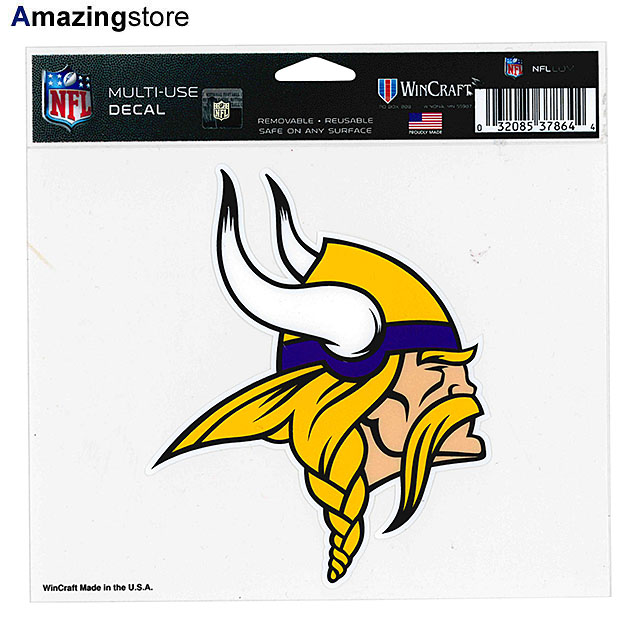 WinCraft NFL Minnesota Vikings Decal Bumper Sticker Team Color One Size