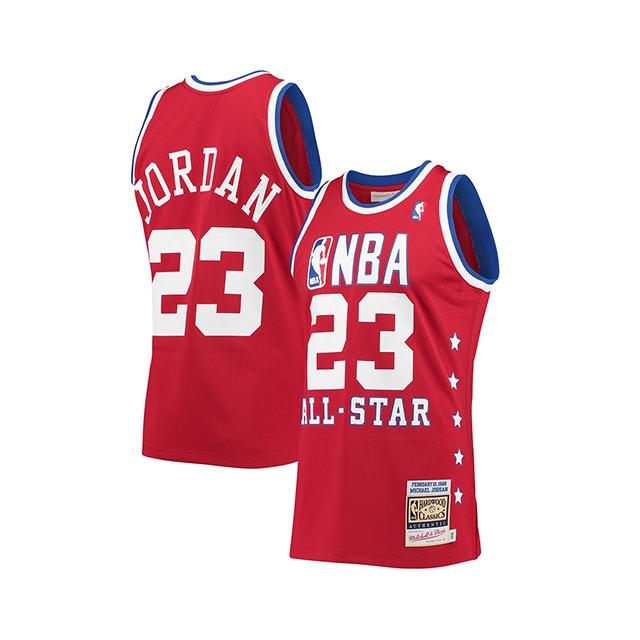 【海外取寄】マイケル ジョーダンモデル ユニフォームジャージー【HWC 1989 NBA ALL-STAR GAME AUTHENTIC JERSEY/RED】MITCHELL&NESS ミッチェルアンドネス MICHEAL JORDAN UNIFORM 19_12_1NBA19_12_2