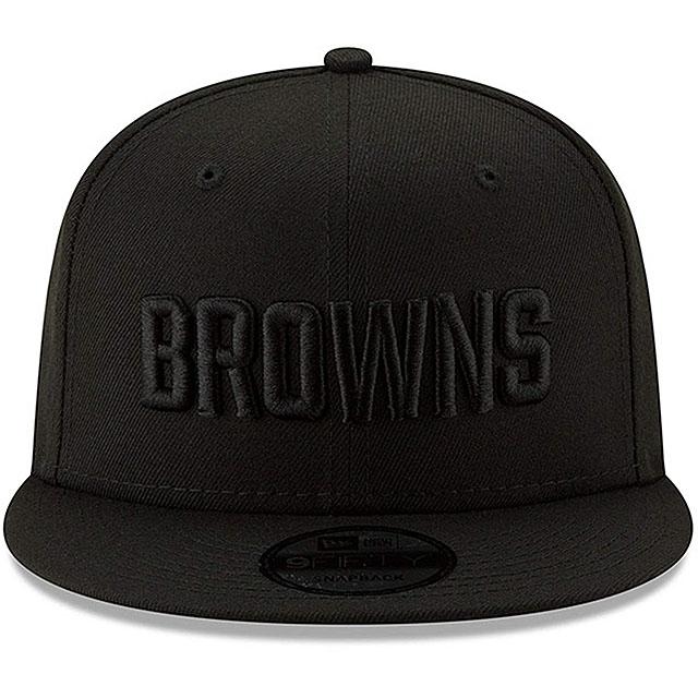 ニューエラ クリーブランド ブラウンズ 9FIFTY スナップバック キャップ 【NFL TEAM-BASIC SNAPBACK CAP/BLACKOUT】 NEW ERA CLEVELAND BROWNS [19_10_5NE 19_11_1]