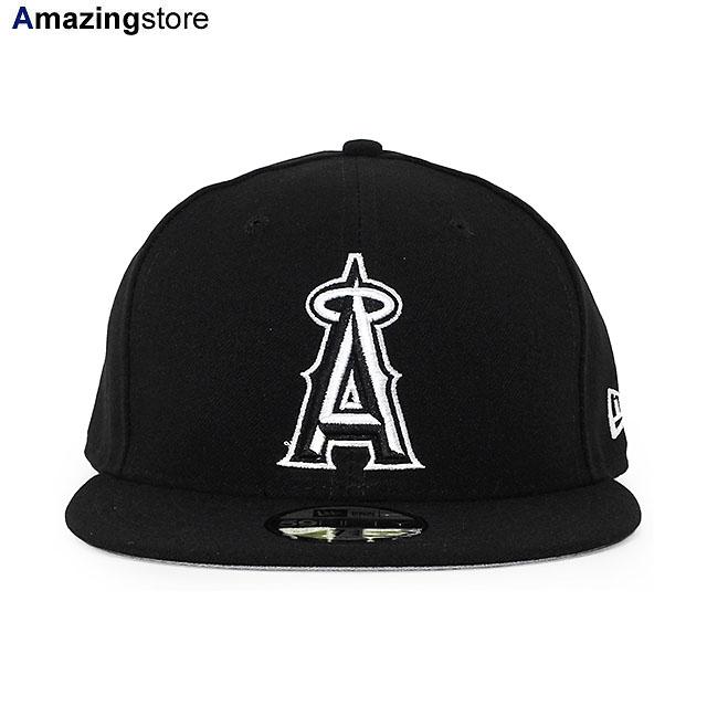 ツバ裏グレーのブラック×ホワイトの59FIFTY あす楽 ニューエラ 59FIFTY ロサンゼルス エンゼルス MLB TEAM-BASIC FITTED CAP LOS ANGELES ANGELS ブラック 出群 ERA NEW BIG_SIZE 21_8RE_21_9RE_0901 BLACK-WHITE 贈答 BLK