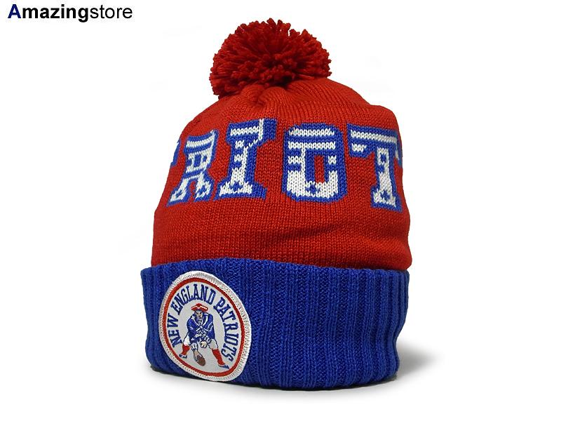 b0068e04e MITCHELL NESS NEW ENGLAND PATRIOTS Mitchell & Ness New England Patriots  knit hat Beanie [Hat head gear new era cap new era caps new era Cap newera  Cap ...
