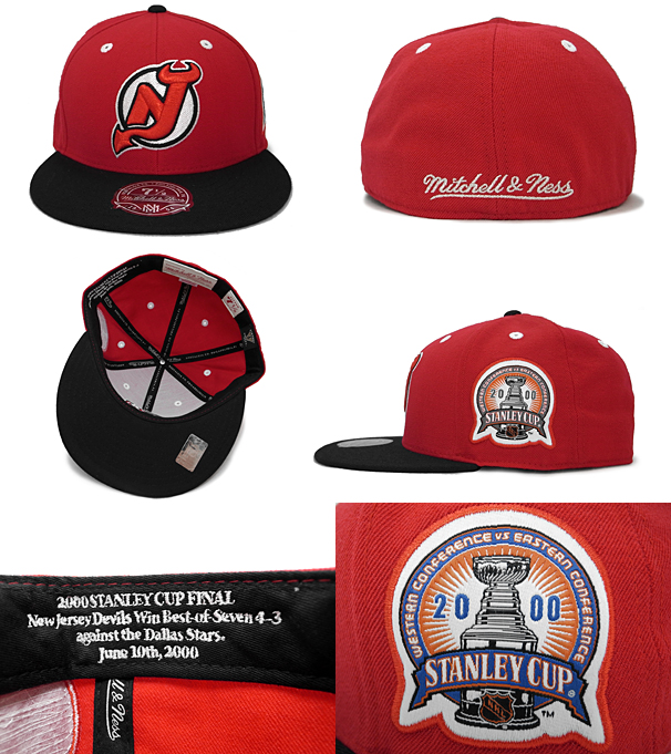 MITCHELL NESS NEW JERSEY DEVILS Mitchell   Ness New Jersey Devils FITTED CAP   high hat head gear new era cap new era caps new era Cap newera Cap size  mens ... cd6ea6ac3