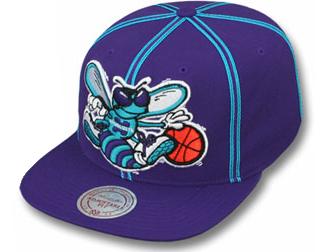 18b68056939af MITCHELL NESS CHARLOTTE HORNETS Mitchell & Ness Charlotte Hornets  Snapback Cap [high hat head ...