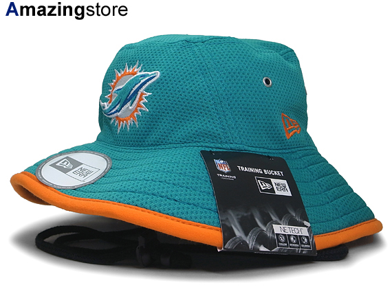 a14d470a NEW ERA MIAMI DOLPHINS new era Miami Dolphins training by bucket Hat Hat  head gear new era cap new era Cap newera Cap large size mens ladies
