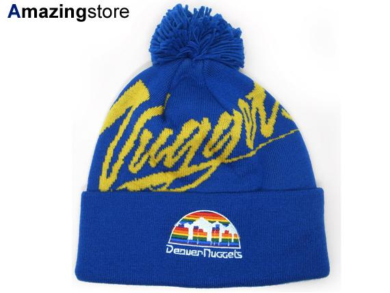 9addb8c88c7 MITCHELL NESS DENVER NUGGETS Mitchell  amp  Ness Denver Nuggets knit hat  Beanie Hat head gear ...