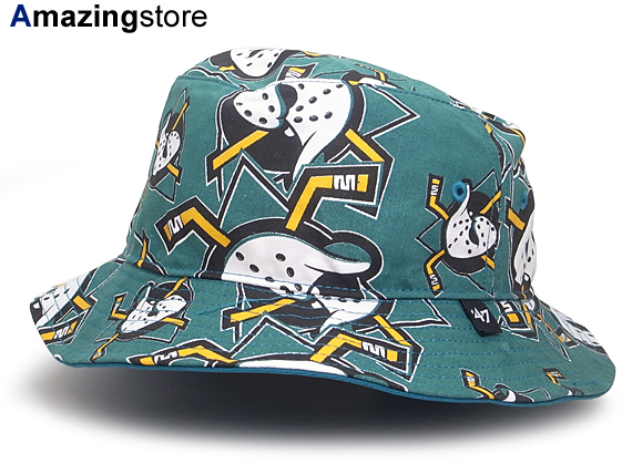 47 BRAND ANAHEIM MIGHTY DUCKS forty seven brand Anaheim Mighty Ducks bucket  Hat  Hat headgear headwear HEADWEAR ALL-OVER pattern NHL 15   4   5   15    5   2 ... 982d3debe30b