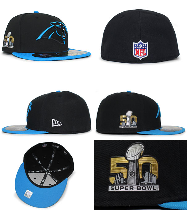 2afec8a3a NEW ERA CAROLINA PANTHERS new era Carolina Panthers 59FIFTY FITTED CAP  fitted caps Super Bowl  Hat head gear new era cap new era Cap large size  GOLD-50 16   ...