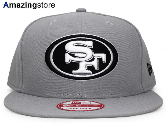 NEW ERA SAN FRANCISCO 49ERS new era San Francisco forty niners 9 FIFTY  Snapback  Hat new era cap new era Cap newera Cap grey black GREY BLACK 16    9   5SNA ... 739190a4025