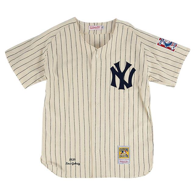 【代引不可】ルー ゲーリックモデル ユニフォームジャージー【1939 HOME AUTHENTIC JERSEY/CREAM】MITCHELL&NESS ミッチェルアンドネス Lou Gehrig UNIFORM 20_6_3 NEW YORK YANKEES ニューヨーク ヤンキース
