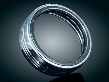LED HALO ヘッドライトトリムリング:7270 (5-3/4インチ/クローム) ハーレーパーツ
