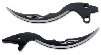 【06100109】プロブレイドブラック ブレーキ&クラッチレバー:1996~06年すべてのモデルに適合(但し2004年以降スポーツスターモデル、V-RODモデル、油圧クラッチモデルは装着不可は除く)