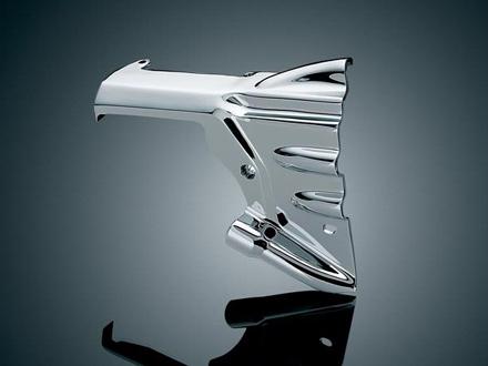 オイルラインカバー&トランスミッション シュラウド ツーリングモデル Kuryaky製 ハーレーパーツ