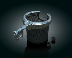 【クリアキン】 パッセンジャードリンクホルダー バスケットタイプ ステンレスマグ 汎用品1/2、5/8、3/4径のパイプに取り付け可能 ハーレーパーツ