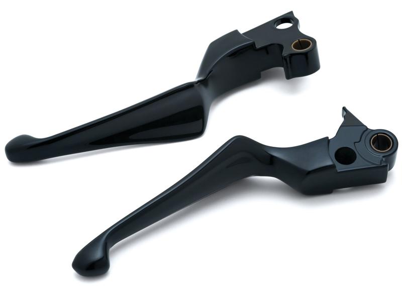 【1847】ボスブレイド ブレーキ&クラッチレバー ブラック:1996~03年XLモデル、1996~17年ダイナモデル、1996~14年ソフテイルモデル、1996~07年ツーリングモデルに適合(但しハイドロリッククラッチ装着車は除く)