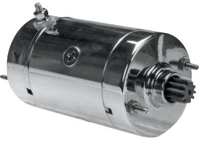 【電装品】 ハイトルク スターター:1974~84年ショベルヘッド、1984~88年ビックツインモデルに適合(クロームメッキ) ハーレーパーツ