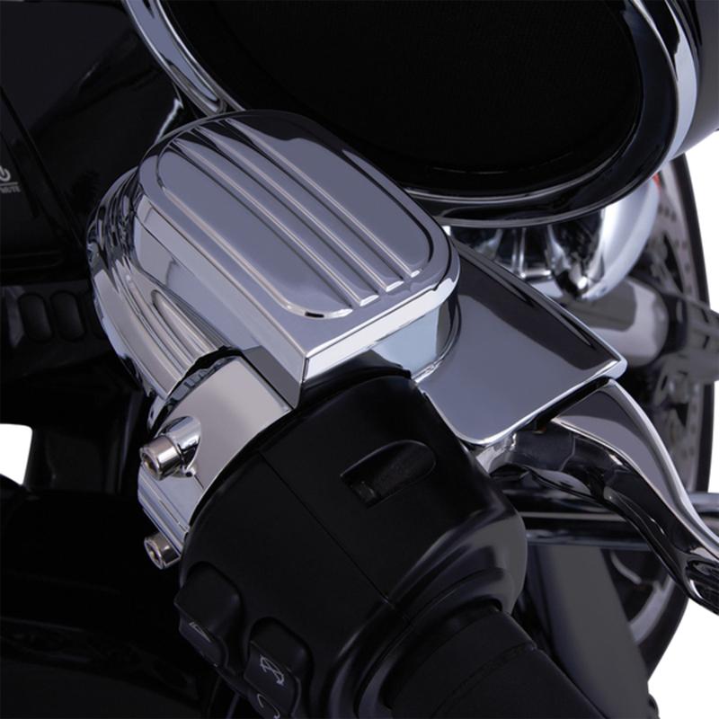 【06110099】 マスターシリンダー アッセンブリーカバー フェアリングマウントミラー用 クローム ハーレーパーツ