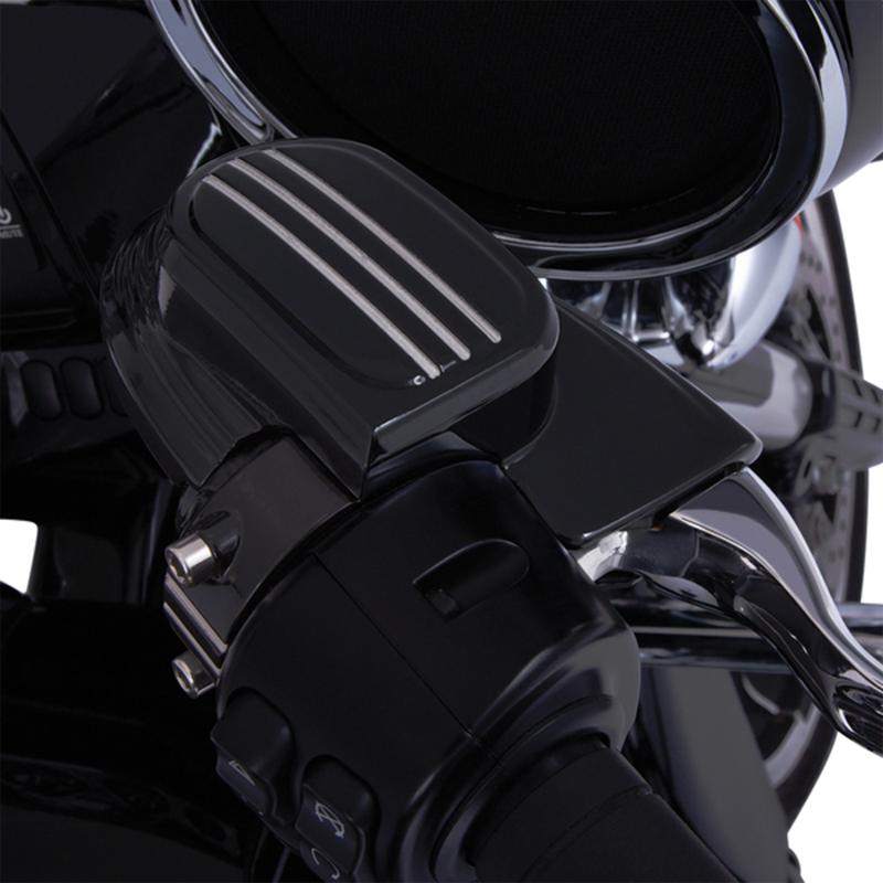 【06110100】 マスターシリンダー アッセンブリーカバー フェアリングマウントミラー用 ブラック ハーレーパーツ