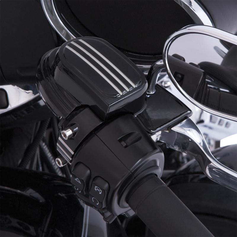 【06110102】 マスターシリンダー アッセンブリーカバー ハンドルバーマウントミラー用 ブラック ハーレーパーツ
