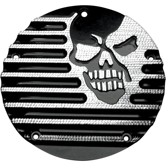 【11070494】MACHINE HEAD ダービーカバー ブラックダイヤモンドエッジ 2016年以降ツーリング、トライク、2015年FLHTCUL、FLHTKL ハーレーパーツ