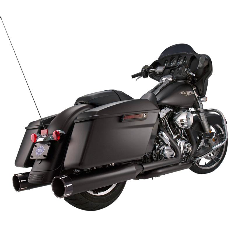 【18011081】S&S Mk45 パフォーマンスマフラー TRACERエンドキャップ ブラック/ブラック 17年以降ツーリング