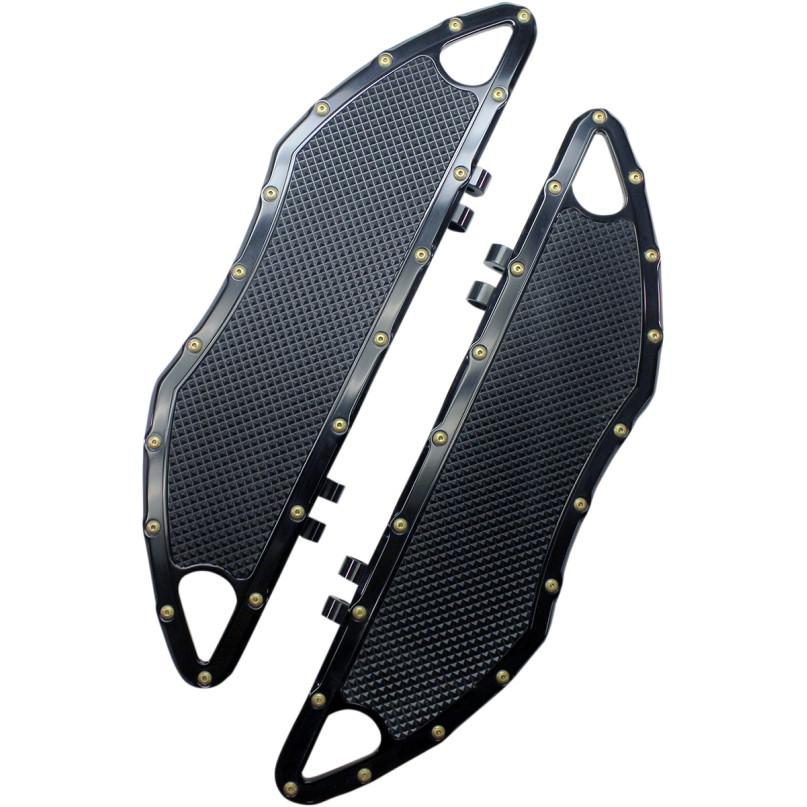 【16210745】BOMBER ドライバーフロアボード ブラック 12~16年FLD 86年以降FLソフテイル 93年以降ツーリング ハーレーパーツ