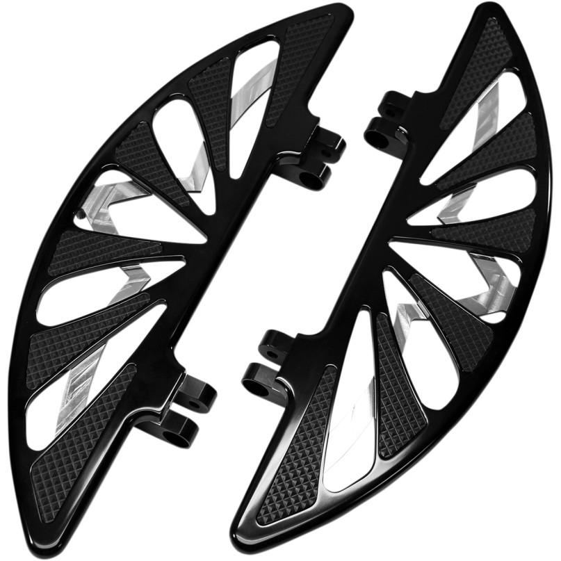【16210749】SPIRO ドライバーフロアボード ブラック 12~16年FLD 86年以降FLソフテイル 93年以降ツーリング ハーレーパーツ