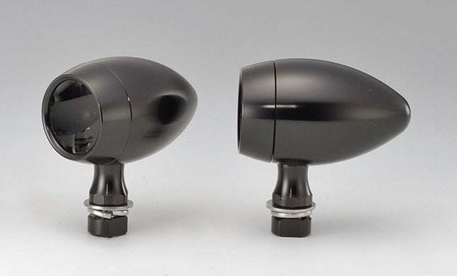 【219-1108】 スターマインB8ウインカーランプ ブラック/スモーク ハーレーパーツ