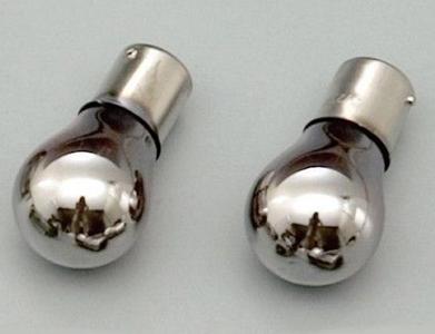 ハーレーパーツ 卓出 灯火類ライト 61725 メッキ 人気海外一番 ウインカーバルブ ヘッドライト