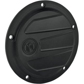 【5穴】 SCALLOP ダービーカバー 1999年以降ビックツインモデルに適合(ブラック) ハーレーパーツ