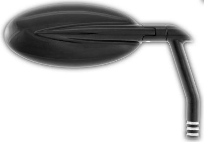 【ミラー】 VISIONミラー Oval Performance Machine製 コントラスカット ハーレーパーツ