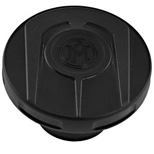 SCALLOP ガスキャップ(ブラックOPS) :1996年以降モデルのタンクに適合 ハーレーパーツ