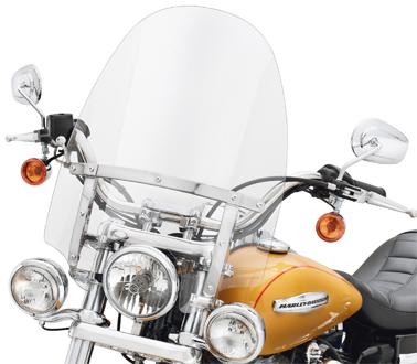 【57609-08】 クイックリリース・コンパクトウインドシールド/補助ライト装着車用 ハーレー純正パーツ