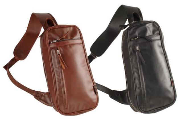 【5s-w4t】Leather Shoulder Bag ブラウン/ブラック ハーレーアパレル
