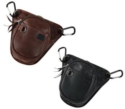 【5s-w2ta】Leather Chalk Bag ブラウン/ブラック ハーレーアパレル