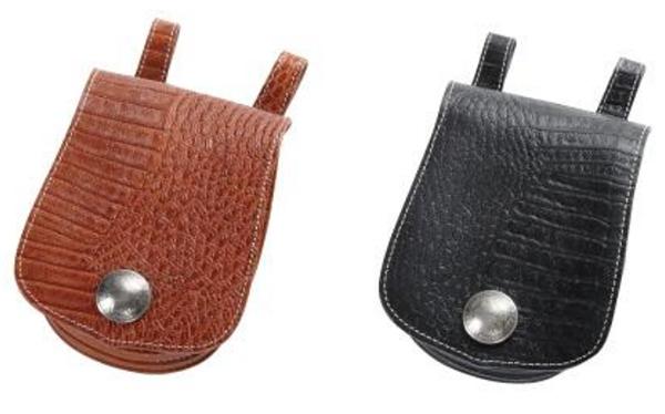 【w-22cr】Leather Medicine Bag ブラウン/ブラック ハーレーアパレル