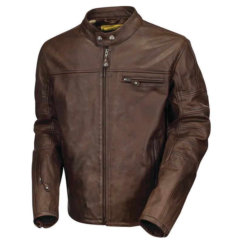【rd7007】Ronin Leather Jacket Tabacco S/M/L/XL/2XL/3XL ブラック ハーレーパーツ