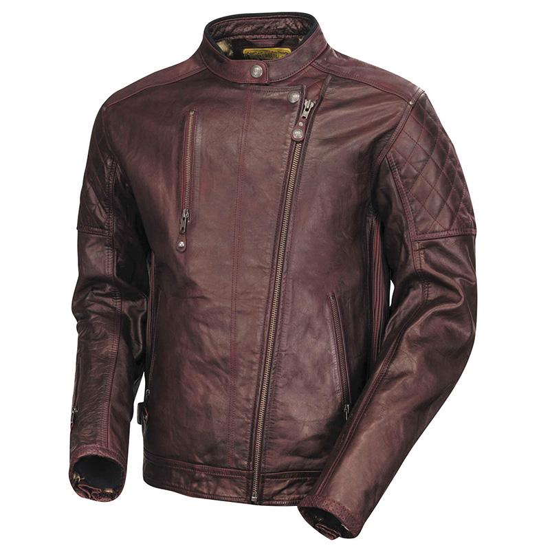 【rd7055】Clash Leather Jacket Oxblood S/M/L/XL/2XL/3XL ブラック ハーレーパーツ